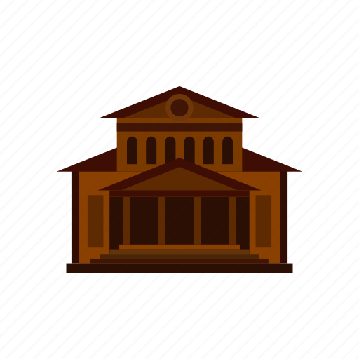 architecture, building, city, entertainment, house, movie, theater icon