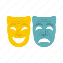 festival, happy, holiday, mask, masquerade, sad, venice icon