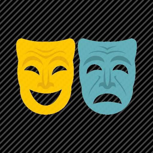 festival, happy, holiday, mask, masquerade, sad, venice icon