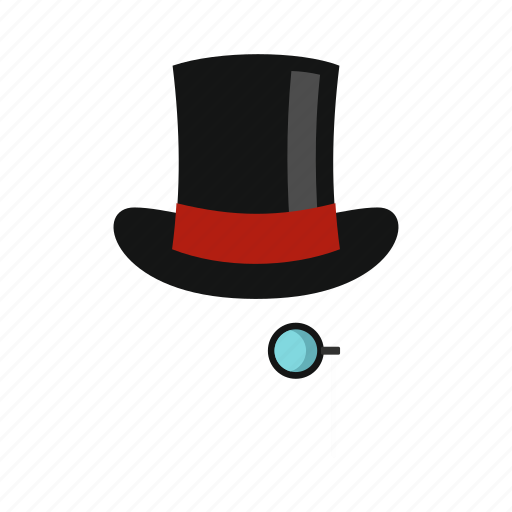gentleman, hat, hipster, male, monocle, retro, vintage icon
