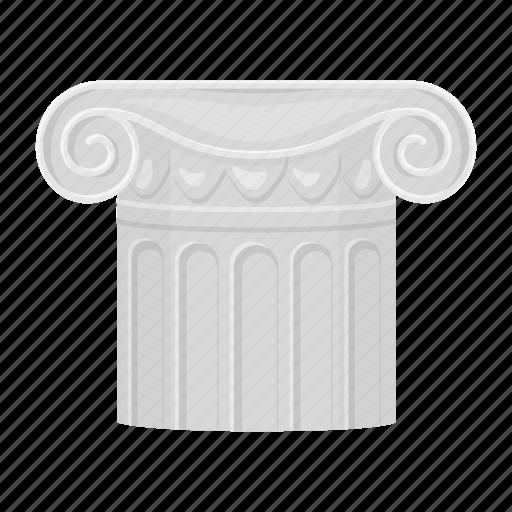 accessories, art, attribute, column, theater icon