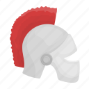 accessories, art, attribute, helmet, roman, theater icon
