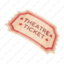 accessories, art, attribute, theater, ticket icon