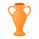 accessories, amphora, art, attribute, greek, theater, vessel icon