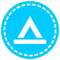 camping, direction, return, road, rose directions, tent, travel icon