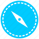 compass, direction, iron, navigation, needle, north, orientation icon