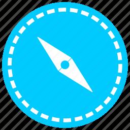 compass, direction, iron, navigation, needle, north, orientation icon