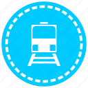 coffee, line, locomotive, railway, tracks, train, transportation icon