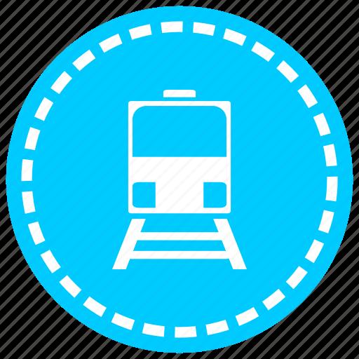 coffee, line, locomotive, railway, tracks, train, transportation icon