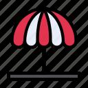 circus, garden, summer, themepark, umbrella icon