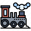 railroad, steam, train, transport, transportation icon