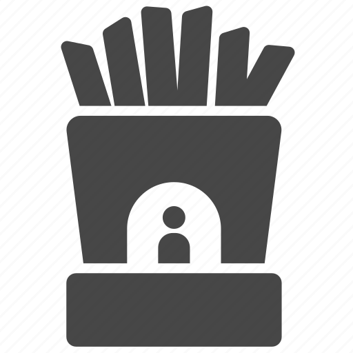 amusement park, booth, french fries, shop, snack, theme park icon