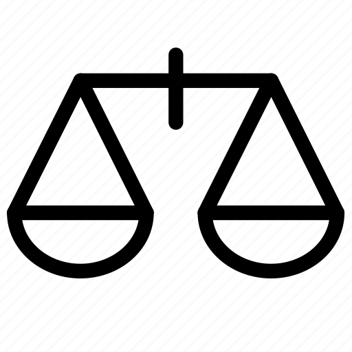 attorney, case, court, judge, justice, law, scale icon