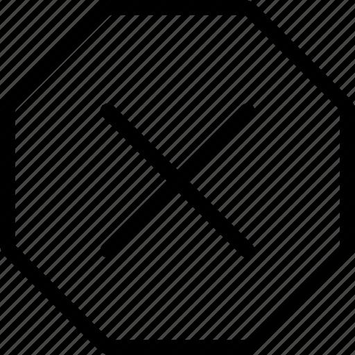 alert, delete, error, problem, remove, stop, warning icon