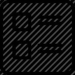 line, thumb icon