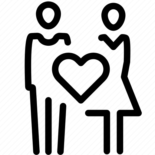 couple, love, marriage, relationship, romantic, valentine icon