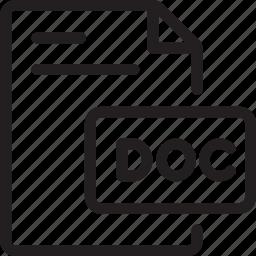doc, word icon