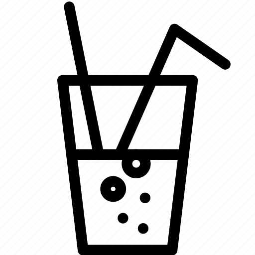 alcohol, beverage, coke, drink, glass, soda, sparkling icon