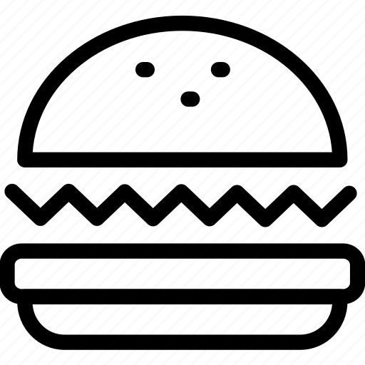 burger, eating, fast, food, hamburger icon