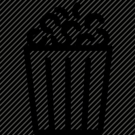 cinema, entertainment, film, movie, movies, popcorn, theater icon