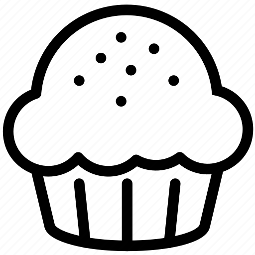cake, cream, cupcake, desert, muffin, sweets icon