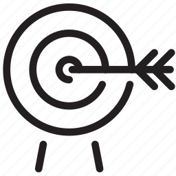 archery, bullseye, marketing, shooting, target icon