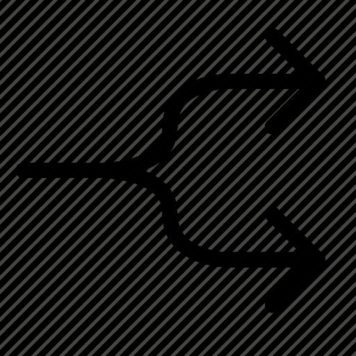 arrow, arrows, direction, divide, left, right, split icon