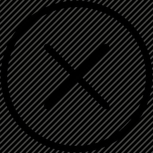 cancel, close, cross, delete, exit, minus, remove icon