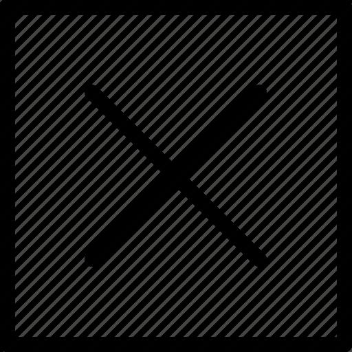 cancel, checkbox, close, delete, error, exit, remove icon