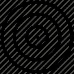 circles, circular, round, shape, target icon