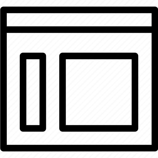 columns, graphic, grid, layout, sidemenu, wireframe icon