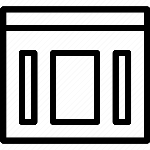 columns, design, graphic, grid, layout, wireframe icon