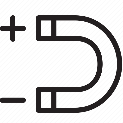 horseshoe, magnet, magnetic, snap icon