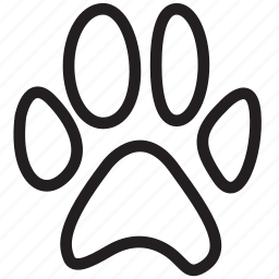 animal, animals, bear, dog, foot, print, steps icon