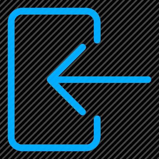 access, blue, enter, login, signin icon