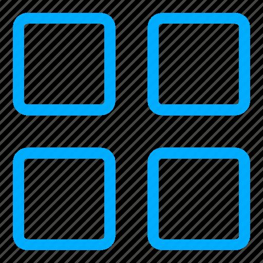 apps, grid, interface, list, menu icon