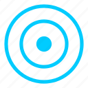 aim, blue, direction, focus, goal, navigation, target icon