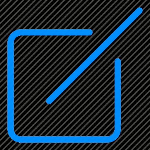 blue, compose, design, edit, layout, write icon