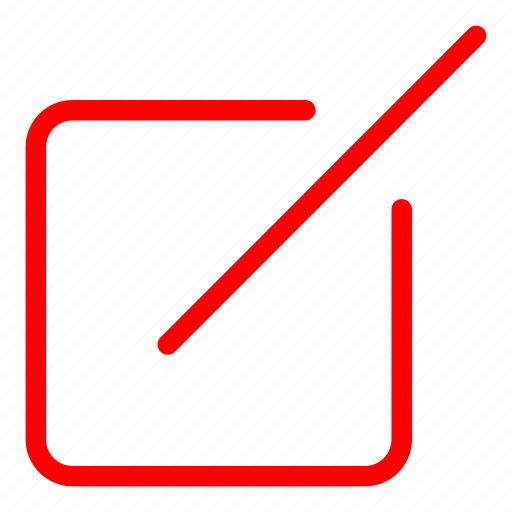 compose, design, edit, layout, red, write icon