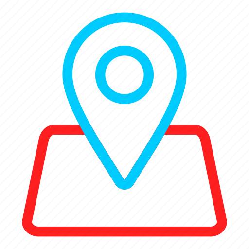 blue, gps, location, map, marker, navigation, pin icon