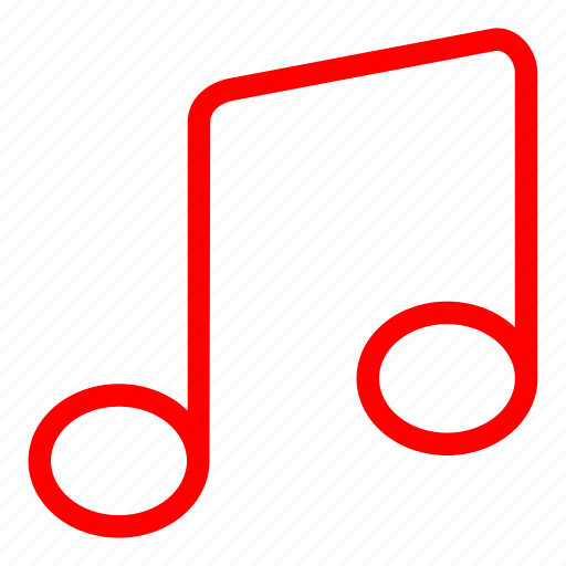 audio, multimedia, music, red, sing, song icon