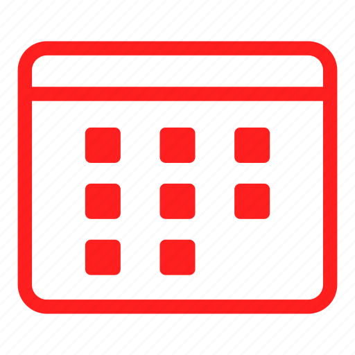 calendar, date, day, event, months, red, time icon