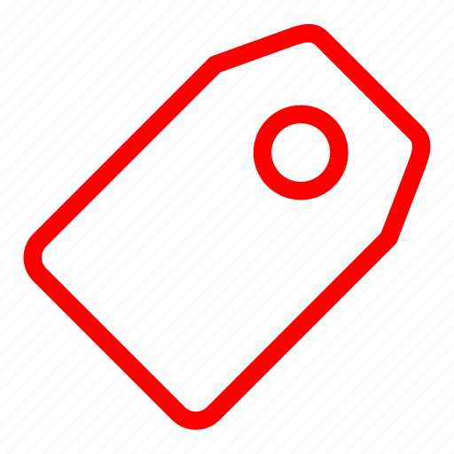 label, price, red, sale, shopping, tag icon