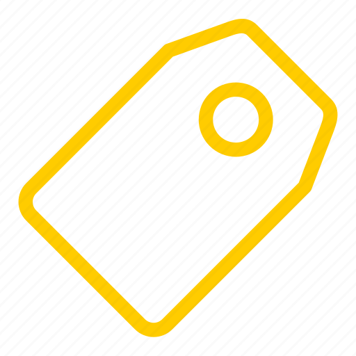 label, price, sale, shopping, tag, yellow icon