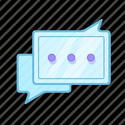 bubble, chat, comment, conversation, discussion, message, talk icon