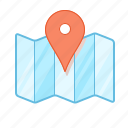 geotag, landmark, map, mark, pin, tag icon
