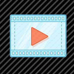 film, movie, play, presentation, scene, tape, video icon