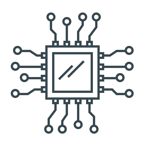 chip, hardware, microchip, processor, programming icon