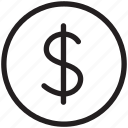 coin, currency, dollars, finance, money, payment, price icon