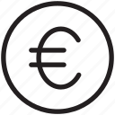 coin, euro, finance, money, payment, price, shopping icon